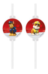 Paw Patrol Ready for Action - Medallion Paper Straws FSC - 91869