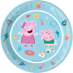 Peppa Pig Star Shine - Industrial Compostable Paper Plates 23 cm FSC - 91877