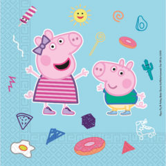 Peppa Pig Star Shine - Home & Industrial CompostableThree-Ply Napkins 33x33 cm FSC - 91878