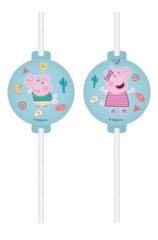 Peppa Pig Messy Play - Medallion Paper Straws FSC - 91881