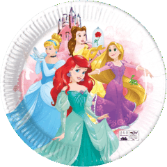 Princess Fabulous - Industrial Compostable Paper Plates 23 cm FSC - 91882