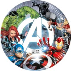 Avengers Fight - Compostable - Industrial Compostable Paper Plates 23 cm FSC - 91902