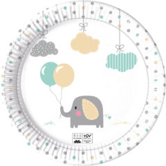 Elepant Baby Compostable - Industrial Compostable Paper Plates 23 cm - 91906