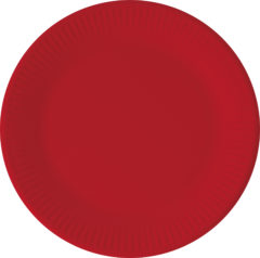 Solid Color New Generation - Red Paper Plates 23 cm With No Plastic Lamination FSC - 92081