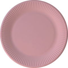 Solid Color New Generation - Pink Paper Plates 23 cm With No Plastic Lamination FSC - 92082