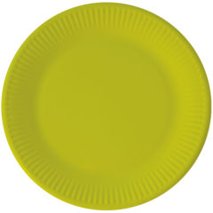Solid Color New Generation - Lime Green Paper Plates 23 cm With No Plastic Lamination FSC - 92084