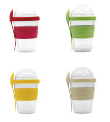 Solid Color Reusable Tableware - Reusable Containers with Lid and Spoon - 92085