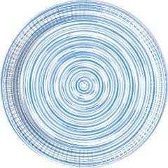Blue Circles - Industrial Compostable Paper Plates 23 cm FSC - 92128