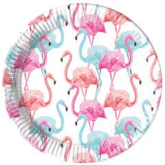 Tropical Flamingo Compostable - Industrial Compostable Paper Plates 23 cm FSC - 92130