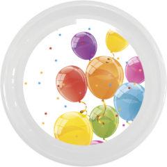 Sparkling Balloons - Reusable Plate 23 cm - 92173