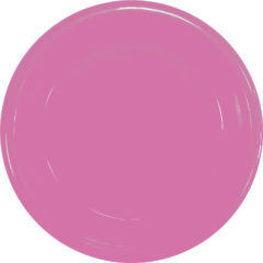 Solid Color Reusable Tableware - Solid Pink Reusable Plate 23 cm - 92186