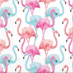 Tropical Flamingo - Home & Industrial Compostable Three-Ply Napkins 33x33 cm FSC - 92206