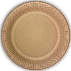 - Kraft Paper Plates Without Plastic Film 23 cm - 92337