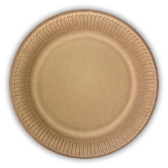 - Kraft Paper Plates Without Plastic Film 20 cm - 92463