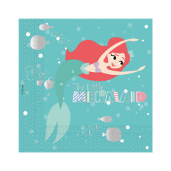 Ariel Under The Sea - Three-ply Paper Napkins 33x33cm - 89902