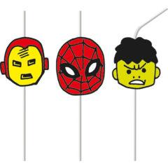 Avengers Pop Comic - Medallion Flexi Drinking Straws - 89019