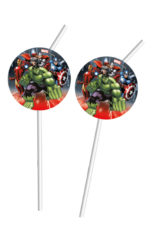 Mighty Avengers - Medallion Flexi Drinking Straws - 86800