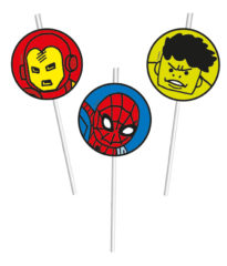 Avengers Team Power - Medallion Flexi Drinking Straws