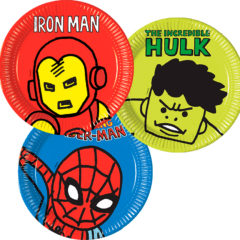 Avengers Team Power - Paper Plates Large 23cm (3 Mixed Designs) - 89193