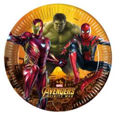 Avengers Infinity War - Paper Plates Large 23cm - 89476