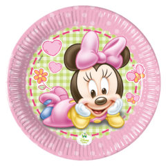 Baby Minnie - Paper Plate Medium 20cm - 84350