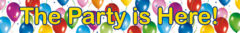 """Balloons Fiesta - """"the Party Is Here"""" Banner - 9718"""