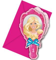 Barbie Magic - Die-cut Invitations & Envelopes