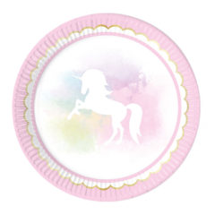 Believe In Unicorns - Paper Plates Large 23cm