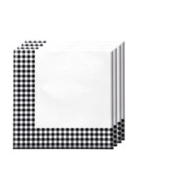 Red, Green, Yellow, Black, Blue Squares - Two-ply Paper Napkins 33x33cm Black Squares