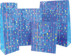 Everyday Paper Gift Bags - Gift Paper Bag 300x120x410 Blue Dots