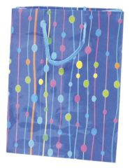 Everyday Paper Gift Bags - Gift Paper Bag 300x120x410 Blue Dots - 5374