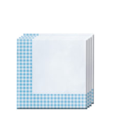 Red, Green, Yellow, Black, Blue Squares - Two-ply Paper Napkins 33x33cm Blue Squares