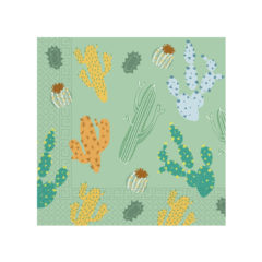 Decorata™ Compostable Cacti - Home & Industrial Compostable Three-Ply Paper Napkins 33x33cm FSC - 91504