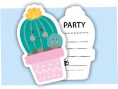 Cactus - Die-cut Invitations & Envelopes