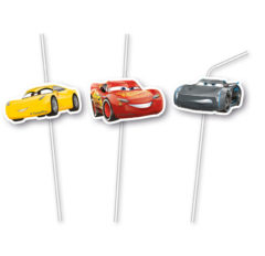 Cars 3 - Medallion Flexi Drinking Straws