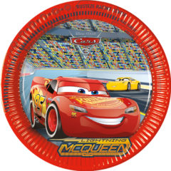 Cars 3 - Paper Plates Large 23cm - 87807