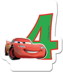 Cars 3 - Candle No 4 - 82888