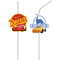 Cars The Legend of the Track - Medallion Flexi Drinking Straws - 89471