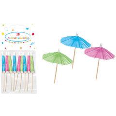 Everyday - Unicolour Cocktail Umbrellas (Fuchsia, Green, Blue) - 89178