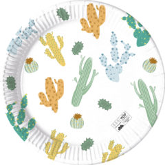 Decorata™ Compostable Cacti - Industrial Compostable Paper Plates Large 23 cm FSC - 90807