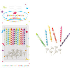 Birthday Candles - Decorata Birthday Candles with Holders - 6651
