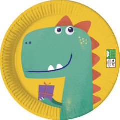 Decorata™ Compostable Dinosaur Roar - Industrial Compostable Paper Plates Large 23cm - 90610