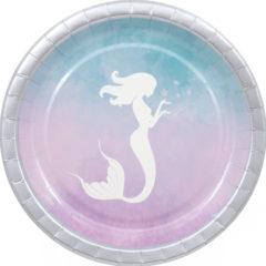 Elegant Mermaid - Paper Plates Large  23 cm - 90546