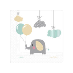 Elephant Baby - Two - Ply Paper Napkins 33x33 cm - 90495