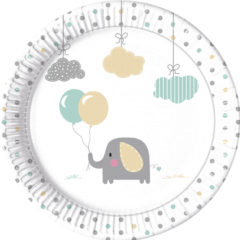 Elephant Baby - Paper Plates Large 23 cm - 90493