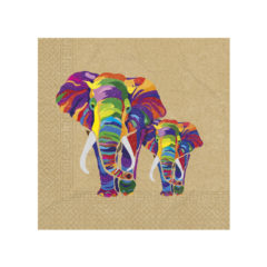 Decorata™ Compostable Elephant - Home & Industrial Compostable Three-Ply Paper Napkins 33x33cm - 91509
