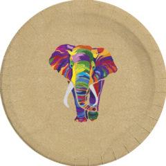 Decorata™ Compostable Elephant - Industrial Compostable Paper Plates Large 23cm - 90604