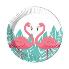 Flamingo - Paper Plates Medium 20cm - 89971