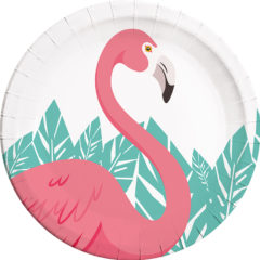 Flamingo - Paper Plates Large 23cm - 89592