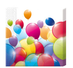 Flying Balloons - Two-ply Paper Napkins 33x33cm